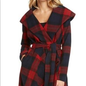 Red Blue & Yellow Plaid Coat fully lined